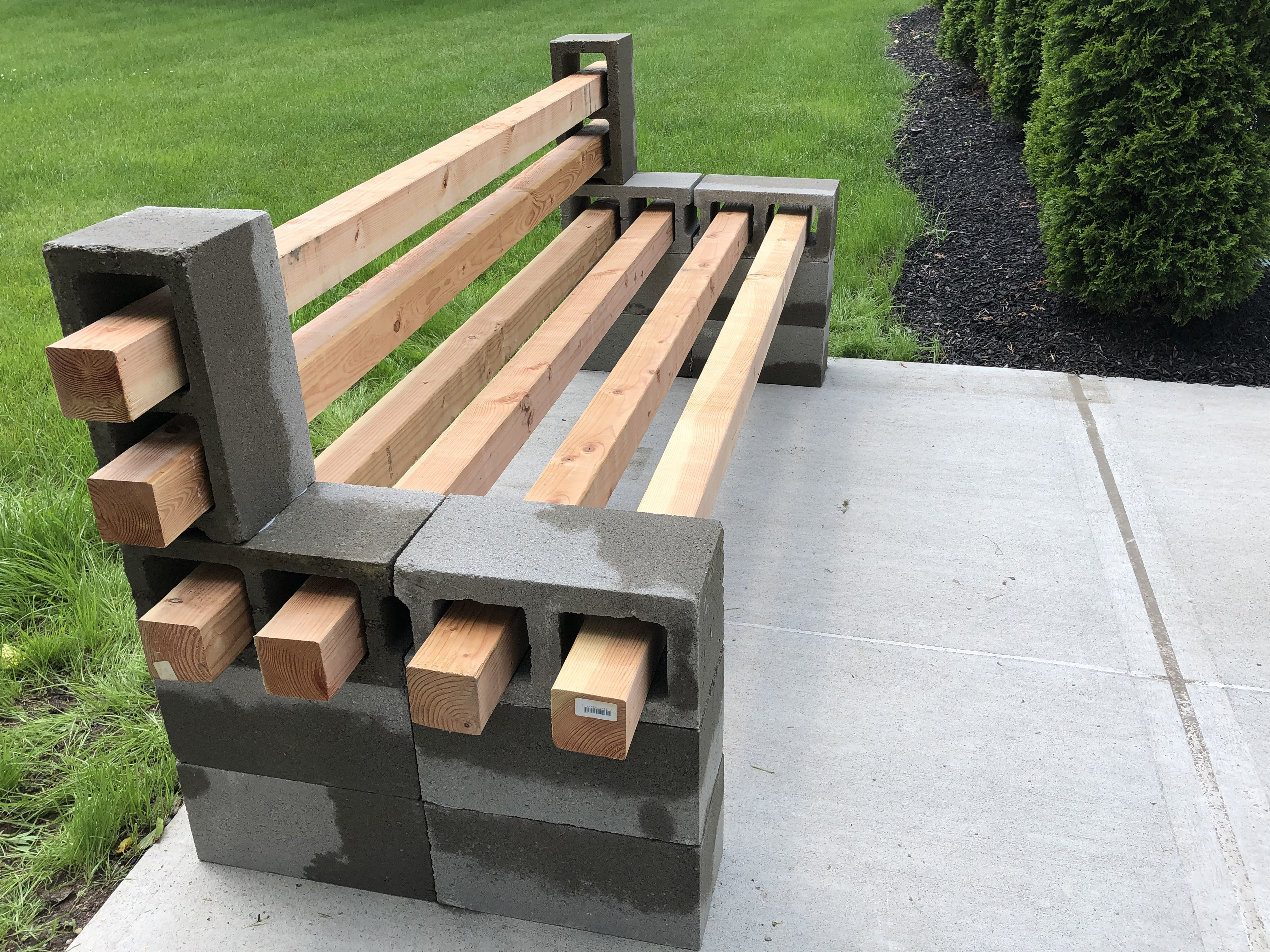 DIY Concrete Block Bench with SikaBond