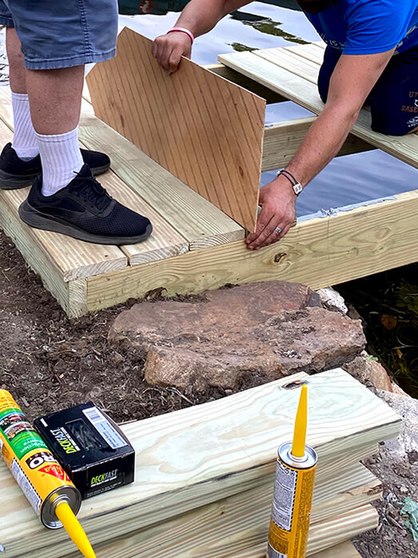 DIY Floating Boat Dock using SikaBond Construction Adhesive