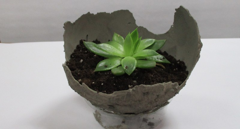 Cement Balloon Planter using SikaQuick® Patch