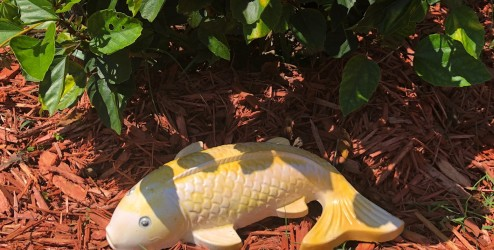Cement Koi Fish Garden Decoration using SikaQuick® Patch.